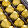 Sweet chocolate candy in box close up — Stock Photo