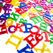 Stock Photo: Plastic letters and numbers