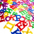 Plastic letters and numbers — Stock Photo