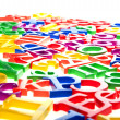 Plastic letters and numbers — Stock Photo #2516213
