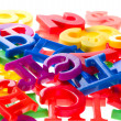 Plastic letters and numbers macro — Stock Photo #2516238