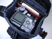 Photographer`s bag — Stock Photo