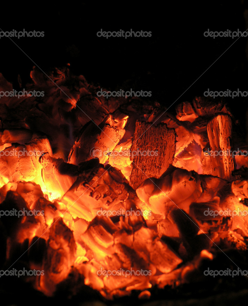 Live coals         — Stock Photo #1602473