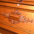 Mahogany secretaire - Stock Photo