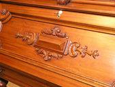 Mahogany secretaire — Stock Photo