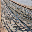 Rails and pavement — Stock Photo
