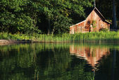 Old boat-house — Stock Photo