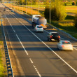 Traffic on the highway (motion blur) — Stock Photo