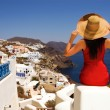 Greek woman on the streets of Oia — Stock Photo #1670249