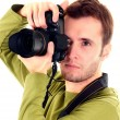 Stock Photo: Young photographer