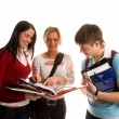 Stock Photo: Group of students having fun