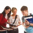 Group of students having fun - Stock Photo