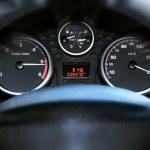 Araba paneli araç hız göstergesi — Stok fotoğraf