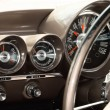 Interior of an old vintage car - Stock Photo