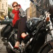 Beautiful woman on the motorcycle — Stock Photo #1694815