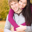 Happy couple outdoors — Stock Photo #1694883