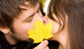 Happy couple kissing — Stock Photo