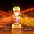 Amusement park at night — Stock Photo