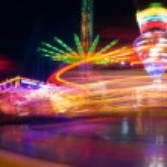 Amusement park at night — Stock Photo