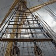 Stock Photo: Mast of old sailing ship