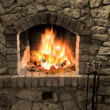 The fireplace - Stok fotoğraf