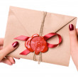 Valentine letter — Stock Photo