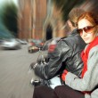 Couple on the motorcycle - Foto Stock