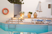 Swimming pool at the evening — Stock Photo