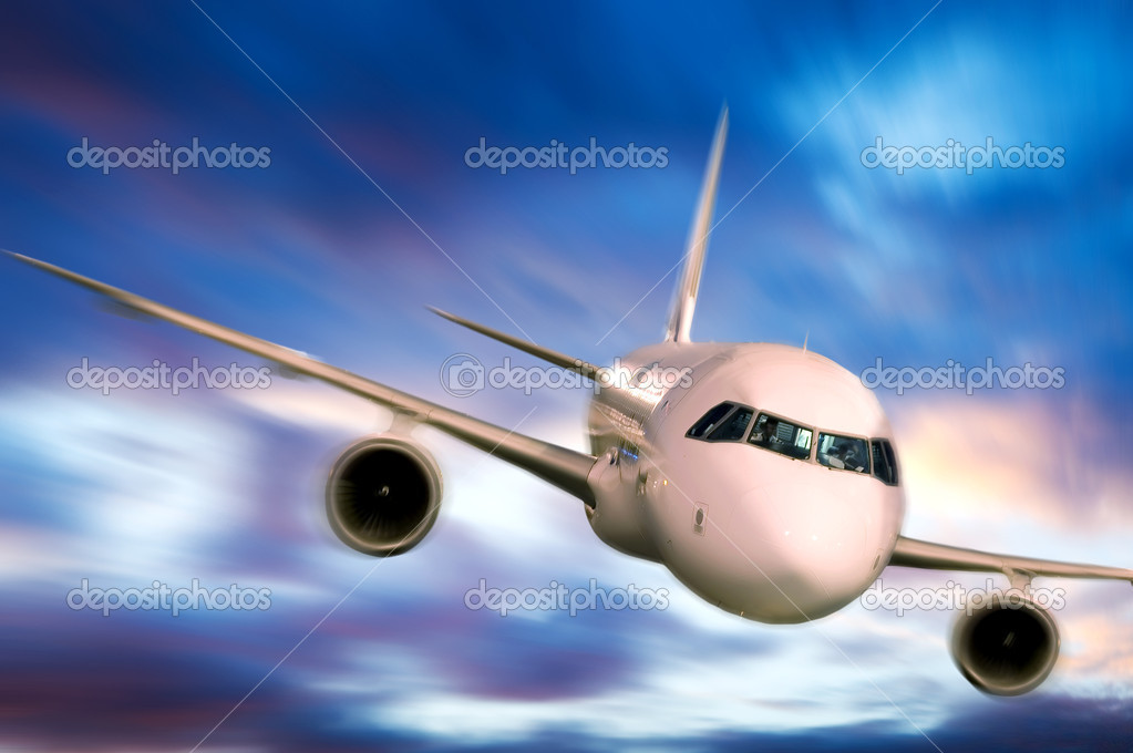 Airplane in the sky — Stock Photo #1710461