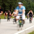 The motion blurred cyclists at cycle event — Stock Photo