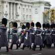 Stock Photo: Guards at Buckingham Palace