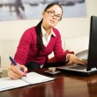 Young woman with laptop — Stock Photo #1726138