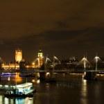 伦敦在晚上 — 图库照片