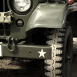 US army jeep in desert - ストック写真