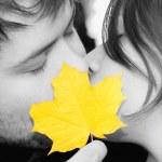 Happy couple kissing — Stock Photo