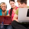 Group of students doing home work — Stock Photo #1953825