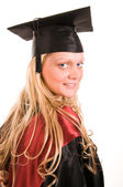 Portrait of young happy student — Stock Photo