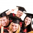grupp av studenter — Stockfoto