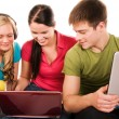 Group of students doing home work — Stock Photo #1968588