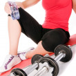 Young beautiful girl at the gym — Stock Photo