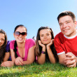 Happy group of friends — Stockfoto #1969970