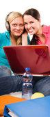 Friends are doing homework — Stock Photo