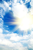 Beautiful sunny sky — Stock Photo