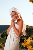 Portrait of beautiful woman after spa — Stock Photo