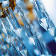 Stock Photo: Chrystal chandelier (shallow dof)