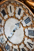 Old antique clock (shallow dof) — Stock Photo