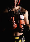 Boxer fighter — Stock Photo