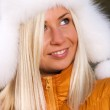 Portrait of the beautiful blond girl — Stock Photo