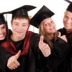 grupp lycklig graderade studenter — Stockfoto