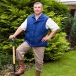 Man working in the garden — Stock Photo